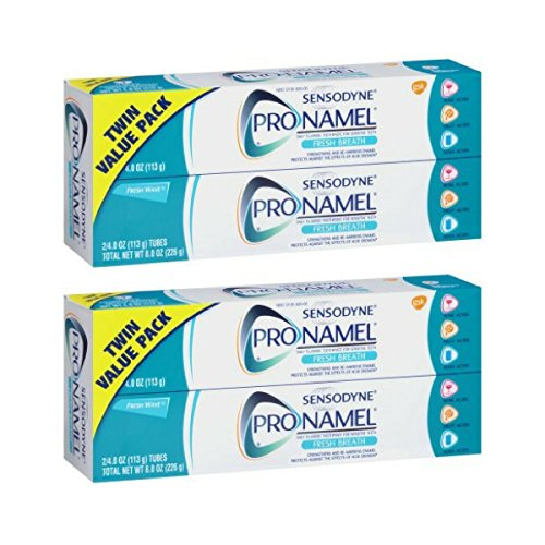 Sensodyne Pronamel Fresh Wave Fluoride Toothpaste to Strengthen and Protect Enamel, 4 Ounce (Pack of 4)