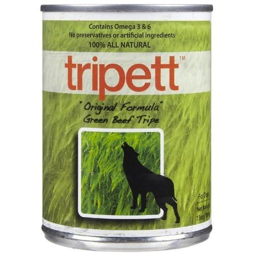 Tripett Original Formula Green Beef Tripe Dog Food, 13 oz cans, Pack of 12 by Tripett 60%OFF