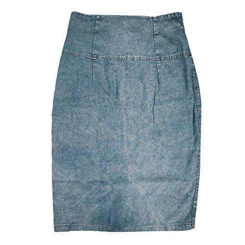 CHN'S Women's Fashion Sexy Denim Skirts Solid High Waist Stretch Pencil Skirt (XL, (New High Waist Denim Pencil Skirt)