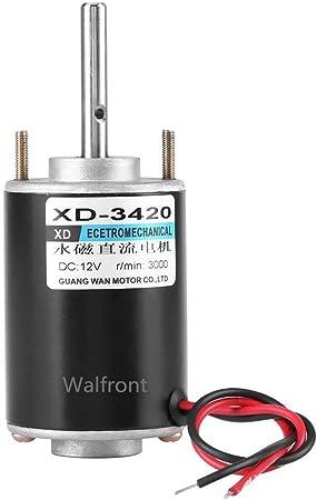 12//24V 30W Moteur /à courant continu /à aimant permanent Pour le bricoleur DC 12V 3000RPM Haute vitesse CW//CCW