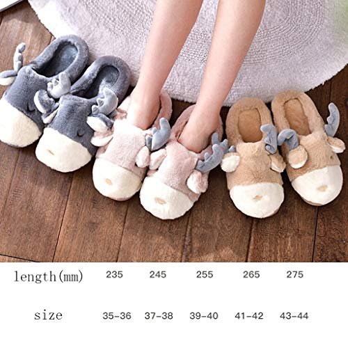 Cartoon Winter Indoor Thick Cute Bottom Plush Aminshap Home Warm Male Yellow Slippers Xt0q8W