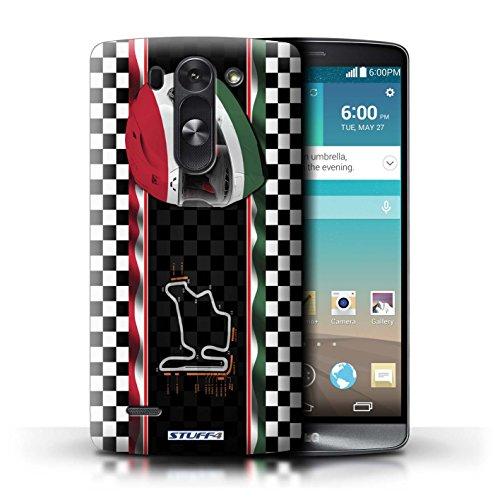 Kobalt® Imprimé Etui / Coque pour LG G3 S (Mini)/D722 / Hongrie/Budapest conception / Série F1 Piste Drapeau