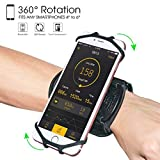 Wristband Phone Holder,HC 360°Rotatable Universal Sports Wristband for iPhone X/8 Plus/8/7/6s,Galaxy S9 Plus/S9/S8 & Other 4'-6.5'Smartphone,Running Armband for Hiking Biking Walking (Wrist)