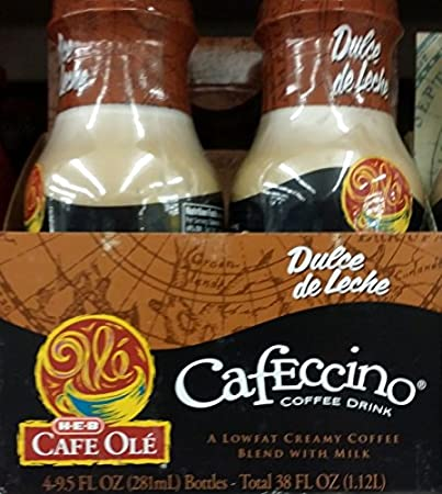 HEB Cafe Ole Cafeccino Coffee Drink 4-9.5oz Bottles (Pack of 1)