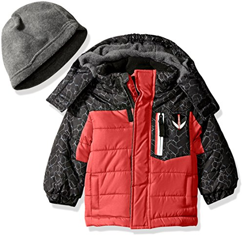 - London Fog Baby Active Heavyweight Bubble Jacket, Red, 18 Months