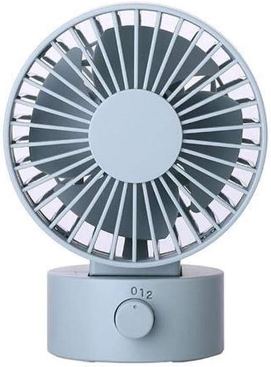 Color : Blue Air Cooler 2 Wind Speed Silent Fan Mini USB Electric Fan Outdoor Personal Fan