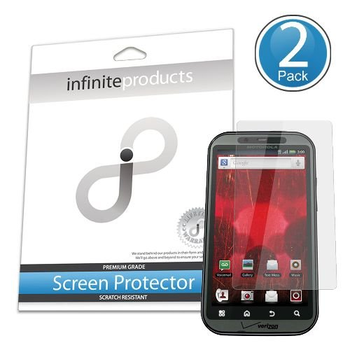 Infinite Products VectorGuard Screen Protection Film for Motorola DROID Bionic - 2 Pack - Retail Packaging - Clear