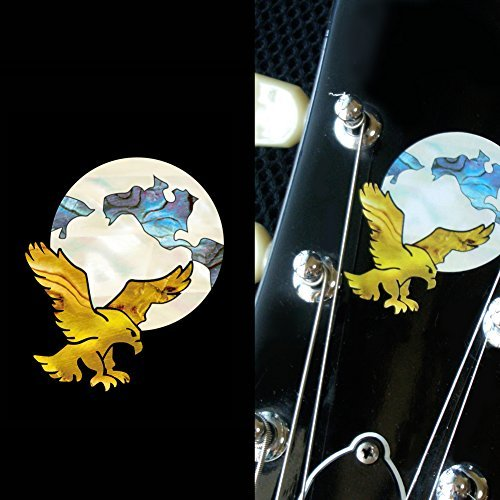 Inlay Sticker Decal For Guitar Grateful Dead Jerry Garcias   Eagle Earth