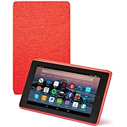 All-New Amazon Fire HD 8 Tablet Case (7th Generation, 2017 Release), Punch Red