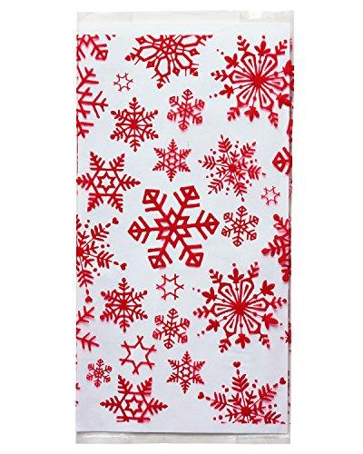 American Cello - American Greetings 5813382 Snowflakes Cello Treat Bag, Multi-Colored