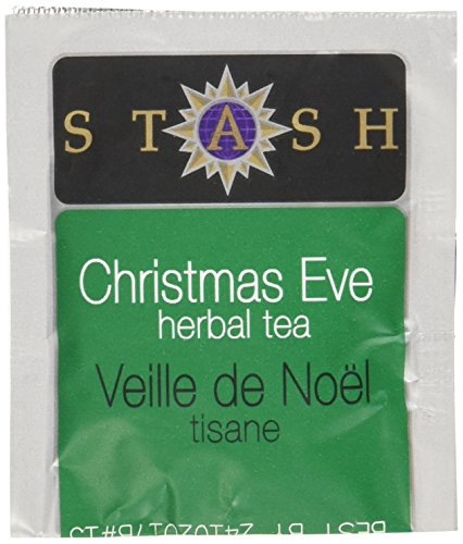 Stash Tea Christmas Eve Herbal Tea 100 Count Tea Bags in Foil (packaging may vary) Individual Spiced Herbal Tea Bags for Use in Teapots Mugs or Teacups, Brew Hot Tea or Iced Tea -