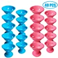TIHOOD 40PCS Hair Curlers Rollers Hair Care Roller Silicone No Clip Hair Style Rollers Soft Magic DIY Curling Hairstyle Tools Hair Accessories