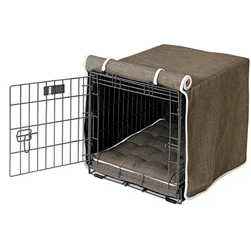 Microlinen Luxury Crate - Bowsers Luxury Crate Cover, Medium, Driftwood