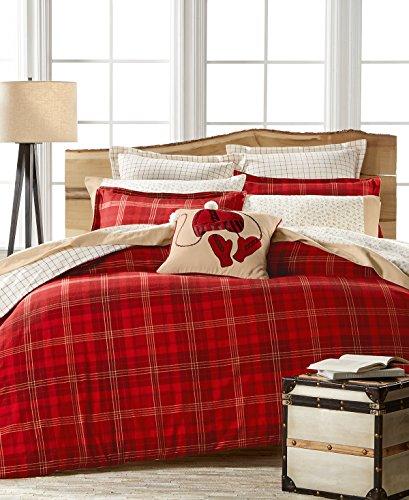 n Flannel Duvet Comforter Cover Set Appleton Red Plaid Full/Queen (Stewart Plaid Cover)