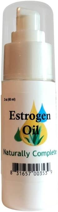 Naturally Complete Estrogen Estriol Oil 2 oz. Bottle Non-GMO Soy-Free Unscented