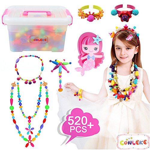 Pop Beads Set 520 PCS Pop Arty Snap Beads for Kids Toddlers