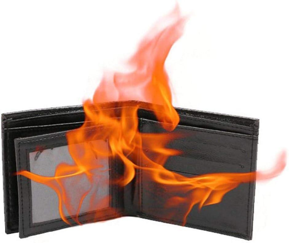 ningxiao586 Zaubertrick Gimmick Flamme Feuer Brieftasche Leder Brieftasche Zauberrequisiten