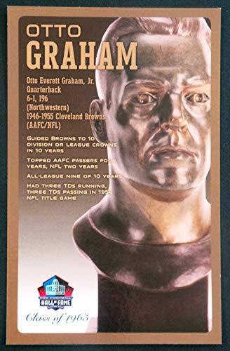 (PRO FOOTBALL HALL OF FAME Otto Graham NFL Bronze Bust Set Card Postcard (Limited Edition #95 of 150))