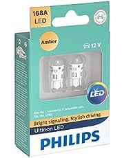 Philips 168 Ultinon LED Bulb (Amber), 2 Pack