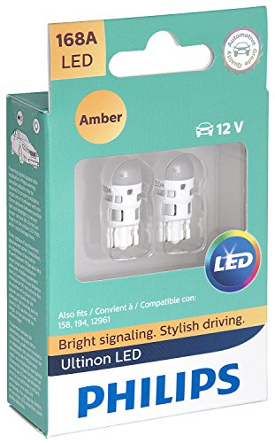 Philips 168 Ultinon LED Bulb (Amber), 2 Pack