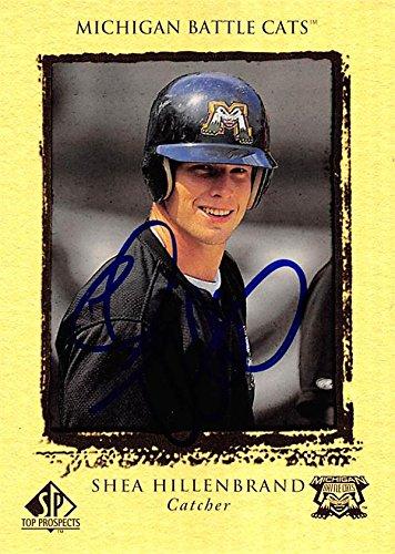 (Shea Hillenbrand autographed baseball card (Michigan Battle Cats) 1999 Upper Deck Top Prospects Rookie #41)