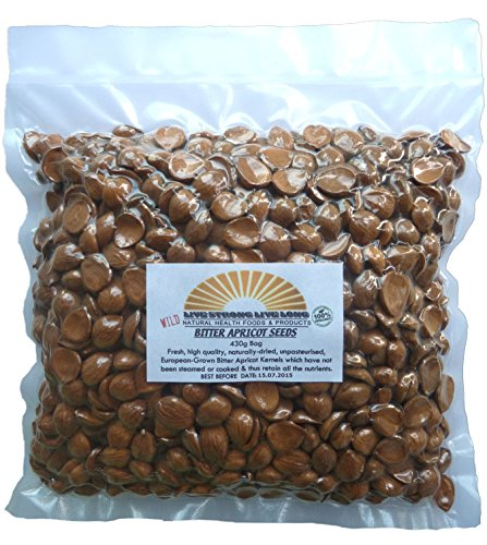 Bitter Apricot Kernels Raw Wild 100% Natural (Seeds) 430g Bag 1lb