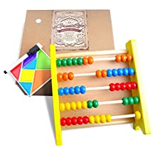 Wooden Abacus for Kids Math: Best Educational Toddlers' Toy with Free Magnetic Activity Kit and Gift Box - Best Counting Toy with Brightly Colored and Child-safe Beads - Perfect Math Tool for Toddlers