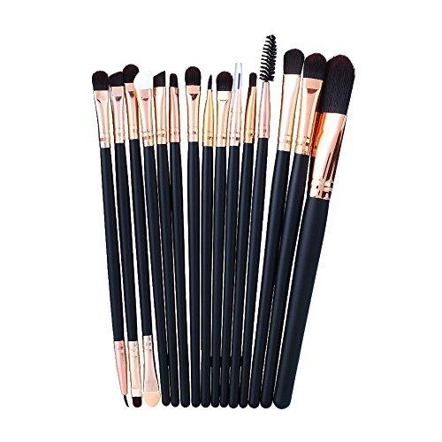 Professional 15pcs Makeup Foundation Mascara Lip Eyeshadow Eyebrow Brushes Set Zegui