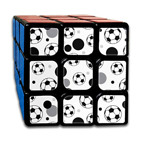 Rubiks Cube Soccer Ball Grey Black Special Speed Cube 3x3 Smooth Magic Square Puzzle Game -