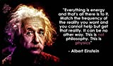 Albert Einstein Quote Motivation poster 20 inch x 13 inch