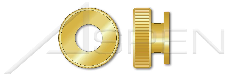 Solid Brass Knurled Thumb Nuts 1//4-20 Qty 500