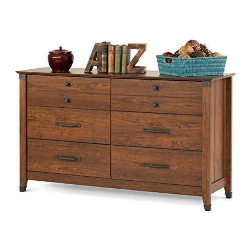 Child Craft Redmond Collection Ready-to-Assemble Double Dresser - Coach Cherry by Childcraft
