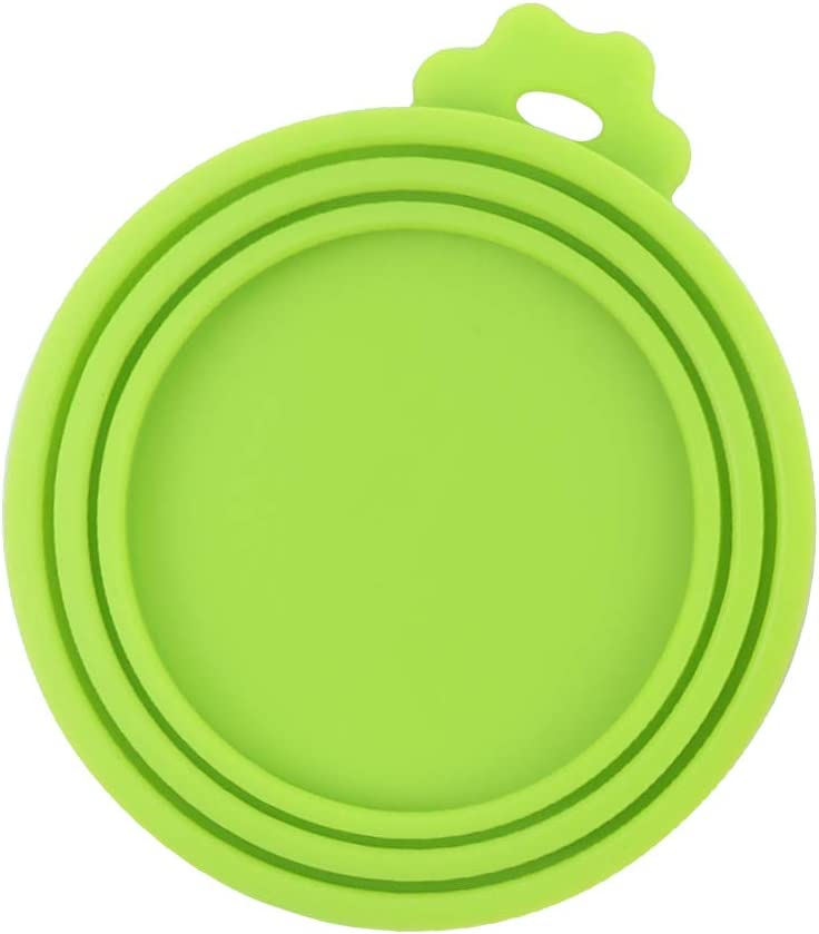 TLOG Pet Food Can Cover, Universal Silicone Cat Dog Food Can Lids Covers, 1 Fit 3 Standard Size BPA Free and Dishwasher Pet Food Storage, Four Colors (Green)