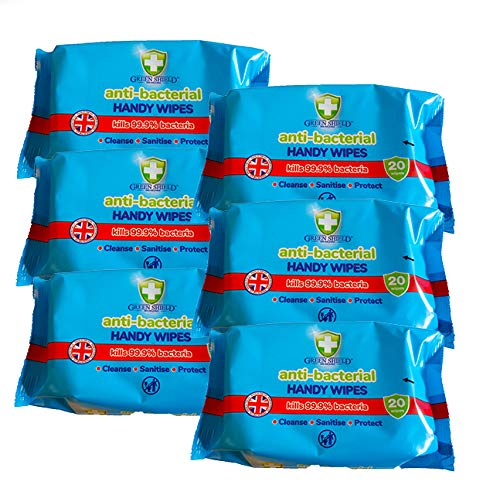 6X Pack GreenShield 15 Household Surface Cleaning Wipes