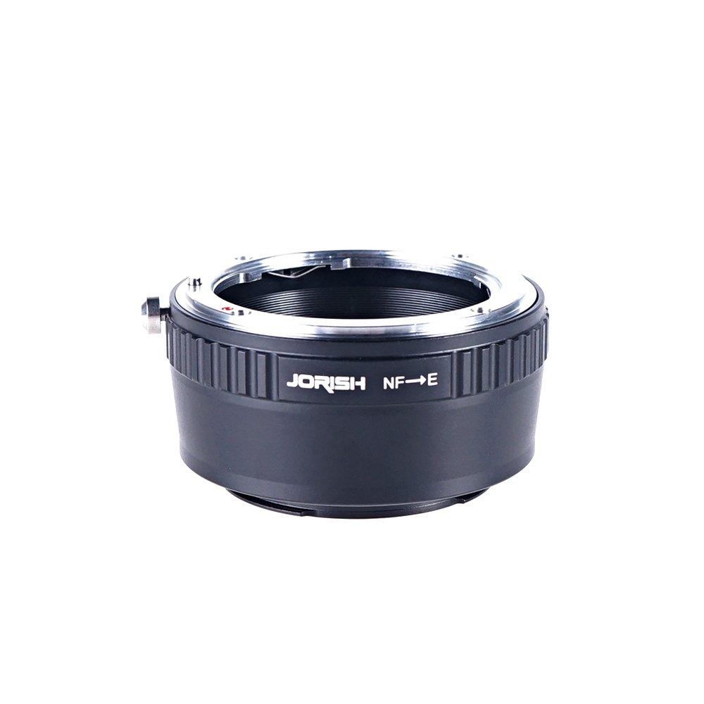 Jorish Adapter To Convert Nikon F-Mount Lens To E-mount / NEX For Alpha Sony a7, a7S, a7IIK, a7II, a7R II, a6500, a6300, a6000, a5000, a5100, a3000 Mirrorless Digital Camera
