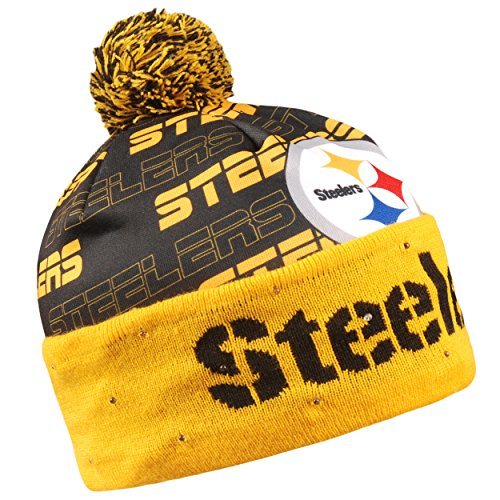 Forever Collectibles Pittsburgh Steelers Light Up Printed Beanie