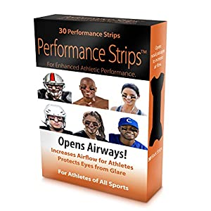 Eye Black PERFORMANCE Strips - Better than Eye Black! OPENS AIRWAYS and Protects Eyes From the Glare -OPENS AIRWAYS by over 61% vs 30% for Nasal Strips that go over the nose!