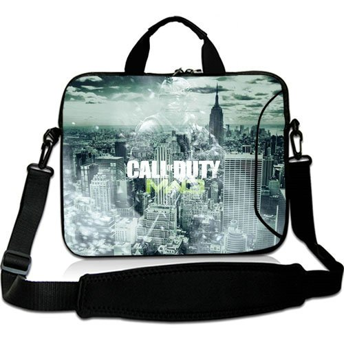 New Custom 15 Inch Adjust Shoulder Laptop Carrying Bag With Call Of Duty Modern Warfare City Soldier Sky Clouds Neoprene Laptop Sleeve for 15 15.6 Inch Laptop Bag(Twin Sides) (Call Of Duty Laptop Skin)