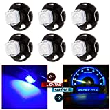 02 escort climate control panel - CCIYU 6 Pack T4.7 Neo Wedge 5050 Led for A/C Climate Heater Control Bulbs Lamp Light (blue)