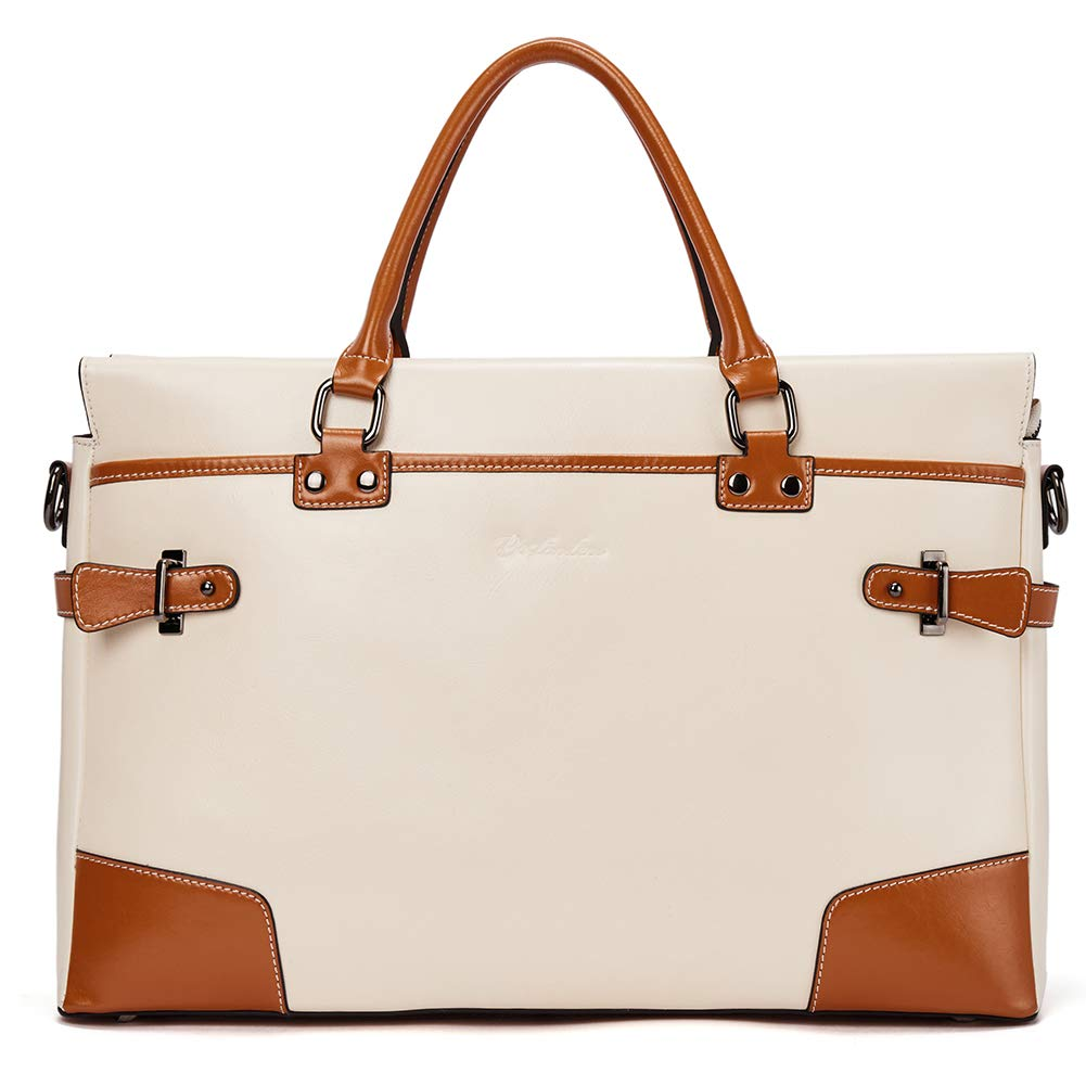 BOSTANTEN Leather Briefcase Messenger Satchel Bags Laptop Handbags for Women by BOSTANTEN (Image #2)