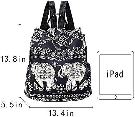 Monique Women Fashion Backpack Small Anti-theft Daypack Schoolbag Convertible Shoulder Bag Handbag
