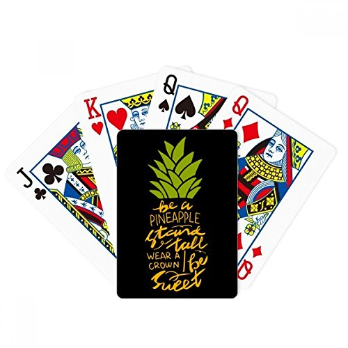 beatChong Be a Sweet Pineapple Fruit Quote Poker Playing Card Tabletop Board Game Gift by beatChong