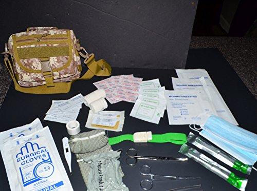 AcidTactical IFAK 60+ Piece First Aid Molle Bag Medical Pouch Molle Desert MarPat Digital Camo