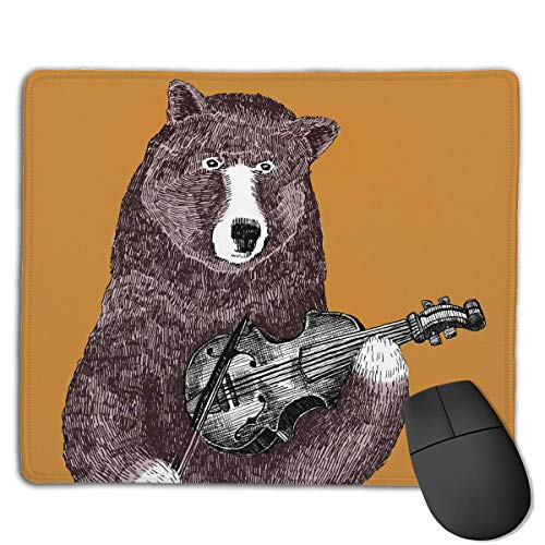 Brown Bear Play Guitar High Speed Surface Desk Pad Gaming Mousepad -