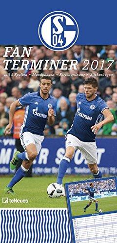 FC Schalke 04 Fanplaner 2017 - Spaltenkalender, Familienplaner - 23 x 48 cm