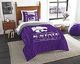 NCAA Kansas State Wildcats NCAA Twin Comforter & Sham, Royal Purple, Twin Size