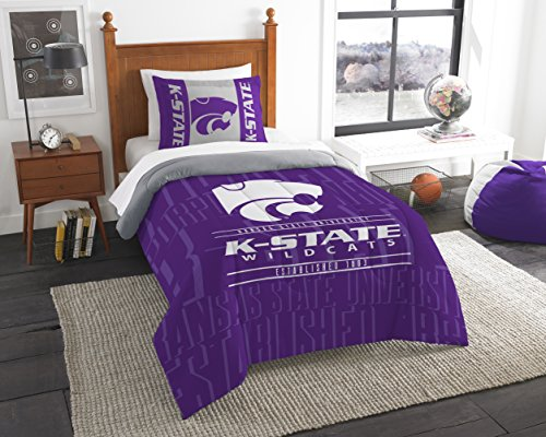(Northwest Officially Licensed NCAA Kansas State Wildcats Modern Take Twin Comforter and)