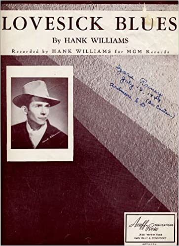 Lovesick Blues (Cover Photo: Hank Williams) (Words/Piano/Guitar ...