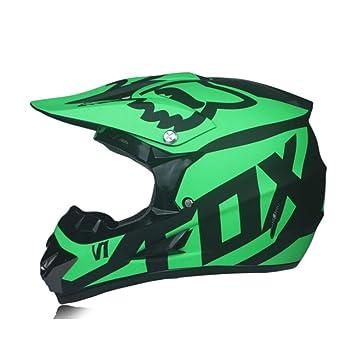WEGCJU Casco De Moto 3 Regalo para Hombre Casco De Moto Calidad Capacete Motocross Fuera De