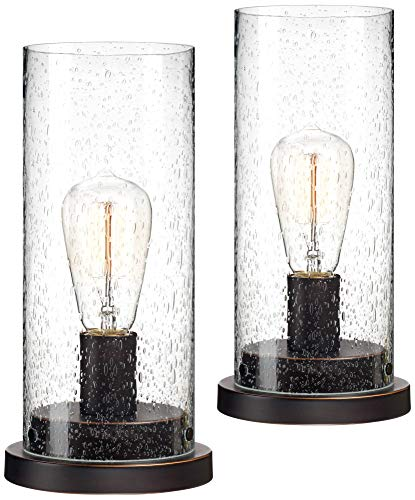 Libby Seeded Glass Edison Accent Lamp Set of 2